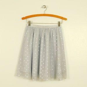 Gap Kids Silver Star Mesh Sparkle Tulle Skirt NWT